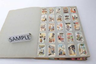 Two albums of cigarette cards
