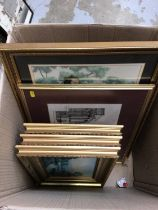 Quantity of pictures and prints (1 box)