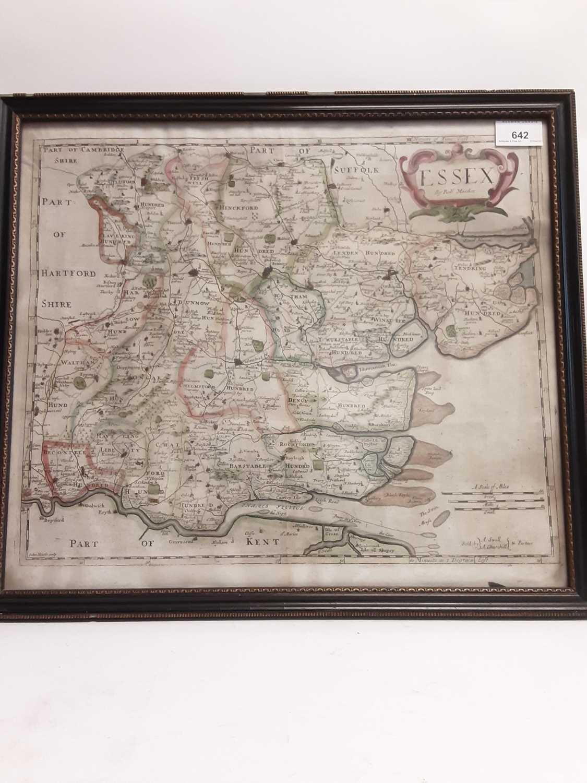 Essex by Robert Morden, set in Antique frame