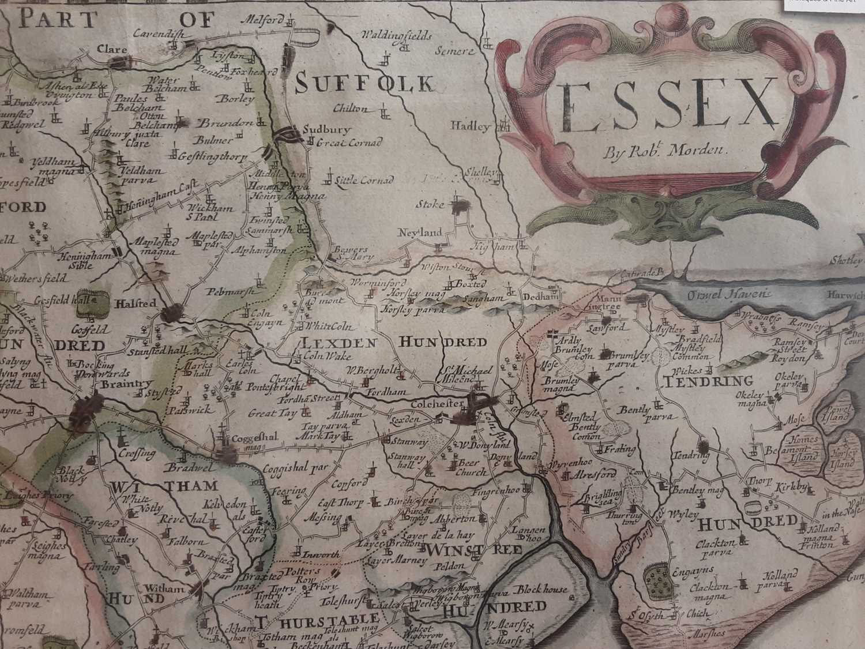 Essex by Robert Morden, set in Antique frame - Image 2 of 3