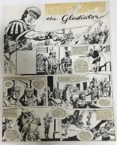 Comic Book interest: Two original pen and ink illustrations