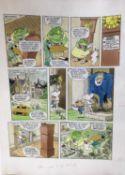 Comic Book Interest: original pen and watercolour illustration for Dangermouse