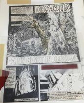 Comic Book Interest: two original illustrations for Vampirella by Esteban Moroto (b. 1942)