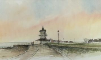 Terry Jeffrey watercolour study- Harwich, signed and dated 1998, in glazed frame