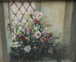 Margaret Glass pastel, summer flowers
