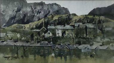 Malcolm Edwards (contemporary) watercolour, Welsh landscape