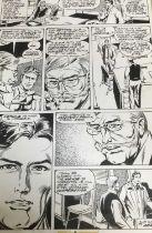 Comic Book Interest: original pen and ink illustration for Marvel Classics, 40 x 27cm