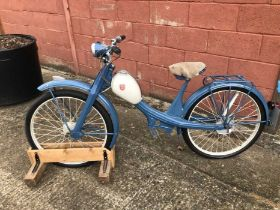 1950's NSU Quickly 49cc Moped, finished in blue and cream, partially restored, engine currently remo