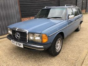 1983 Mercedes - Benz W123 / S123 300TD Estate, Automatic, Reg. No. KYC 878Y, finished in blue with t