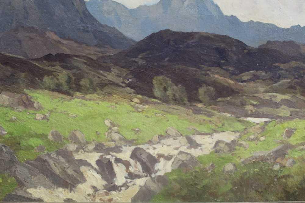 Lewis Taylor Gibb (1873-1945) oil on canvas - Extensive Scottish Landscape, signed, 63cm x 76cm, in - Image 13 of 14