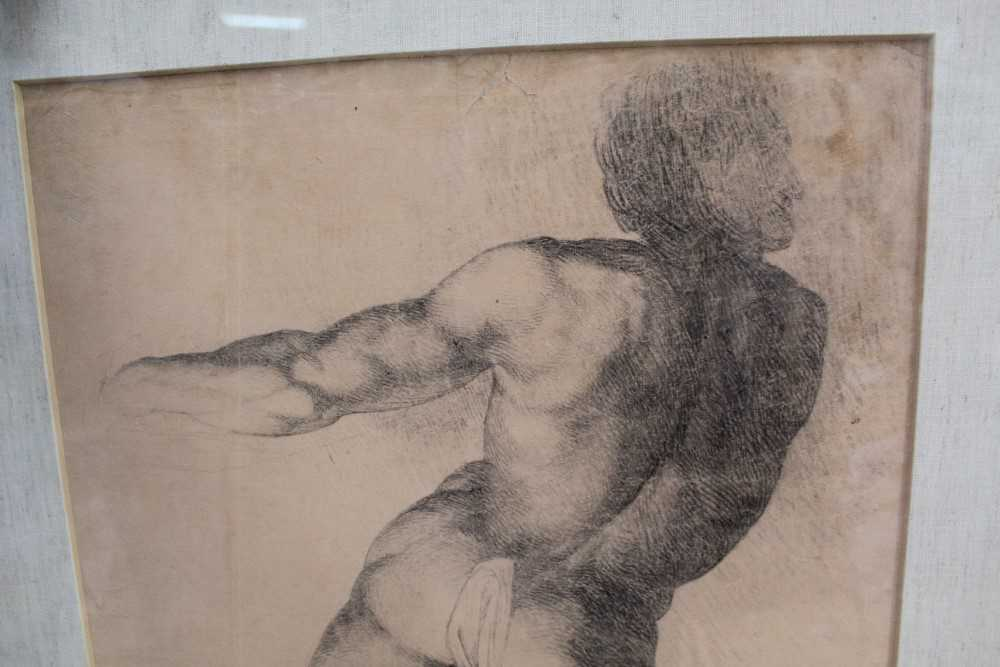 Manner of James Barry (1741-1806) pair of drawings - studies of the Sistine Chapel after Michelangel - Image 10 of 11