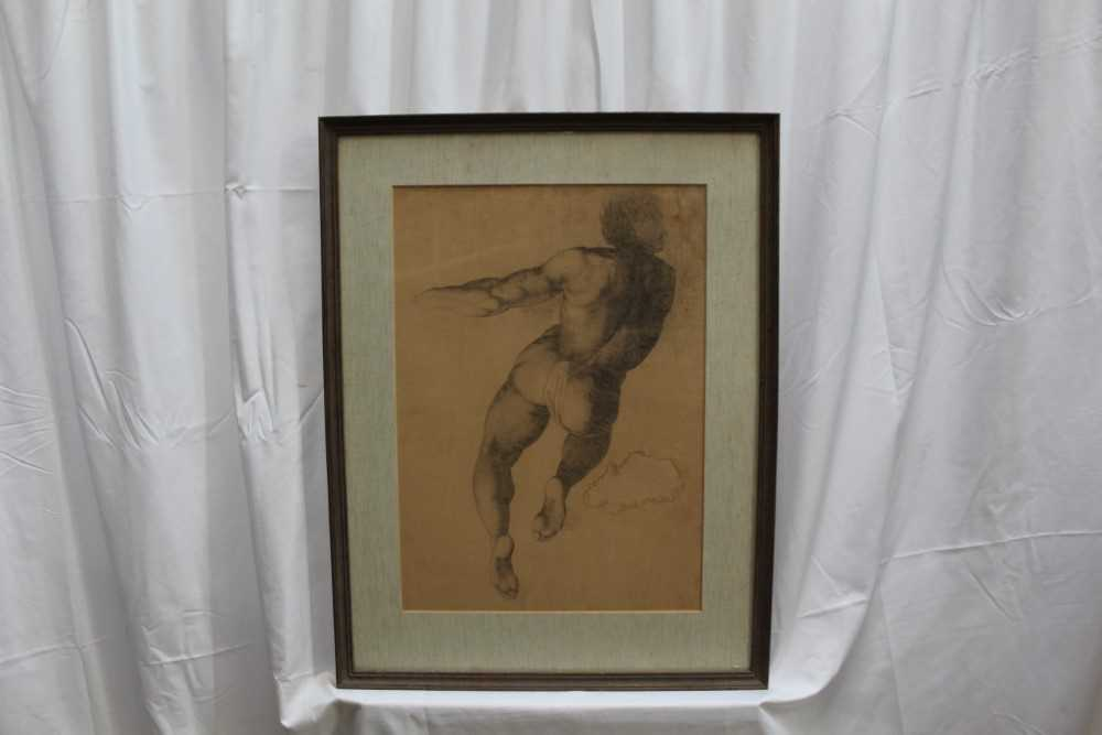 Manner of James Barry (1741-1806) pair of drawings - studies of the Sistine Chapel after Michelangel - Image 7 of 11