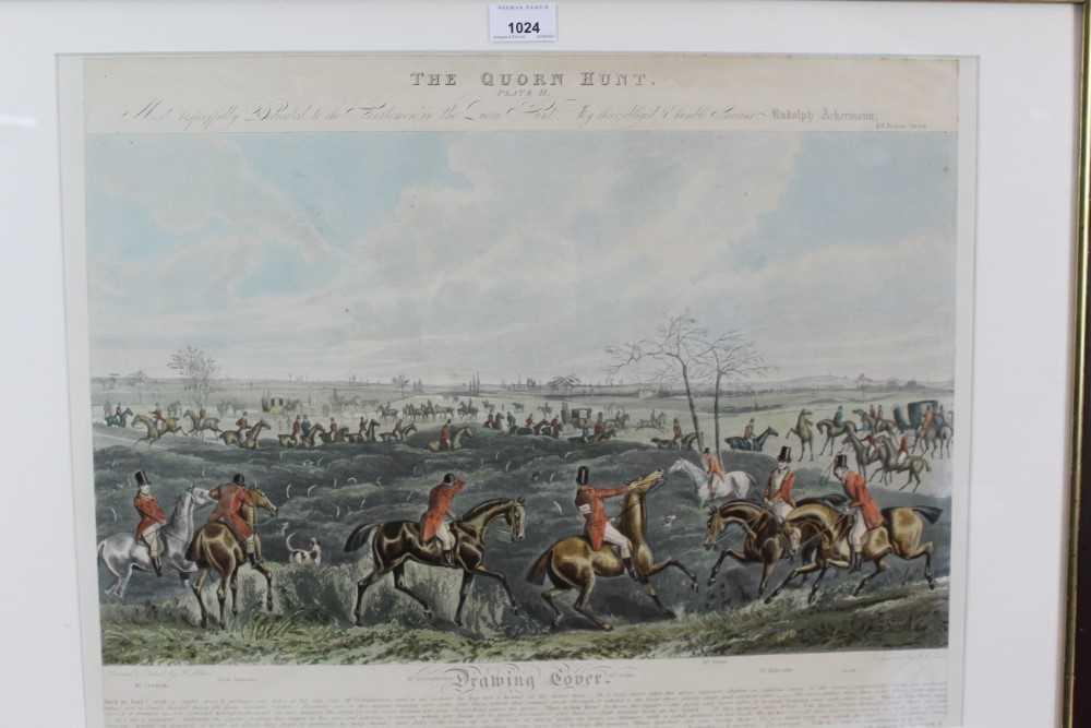 Henry Alken, five hand coloured engravings - The Quorn, in glazed frames