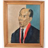 *Francis Plummer (1930-2019) egg tempera on board - portrait of a Jamaican Lawyer, signed and dated