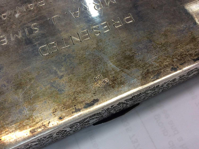 Iranian silver cigarette box. - Image 5 of 5