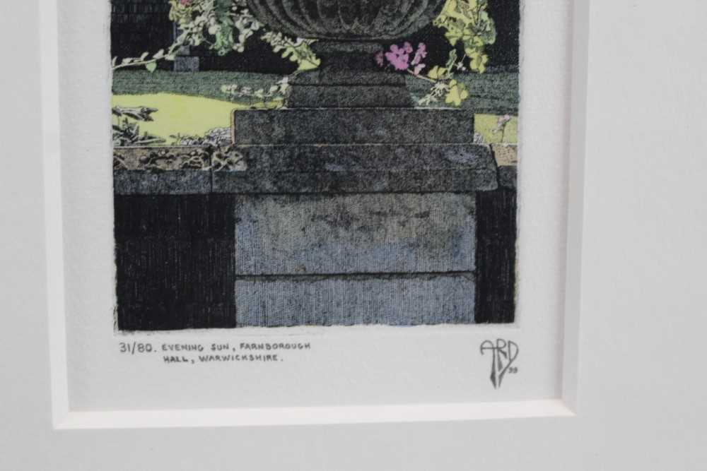 Anthony Dawson signed limited edition etching - Evening Sun, 31/80, in glazed frame Provenance: Th - Image 3 of 4