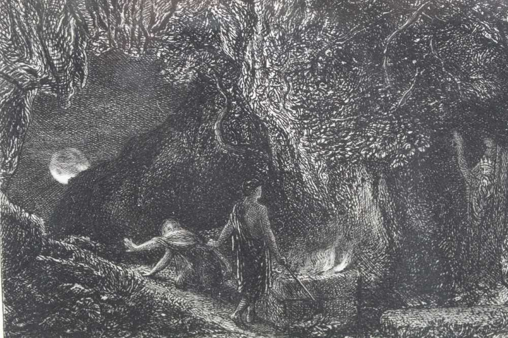 Samuel Palmer (1805-1881) pair of etchings - The Sepulchre and The Cypress Grove, in glazed gilt fra - Image 4 of 12