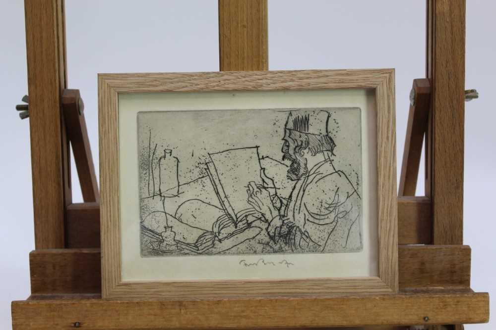 *Sir Frank Brangwyn (1867-1956) signed etching from 'L'Ombre de la Croix', 1931, in glazed frame P - Image 2 of 4