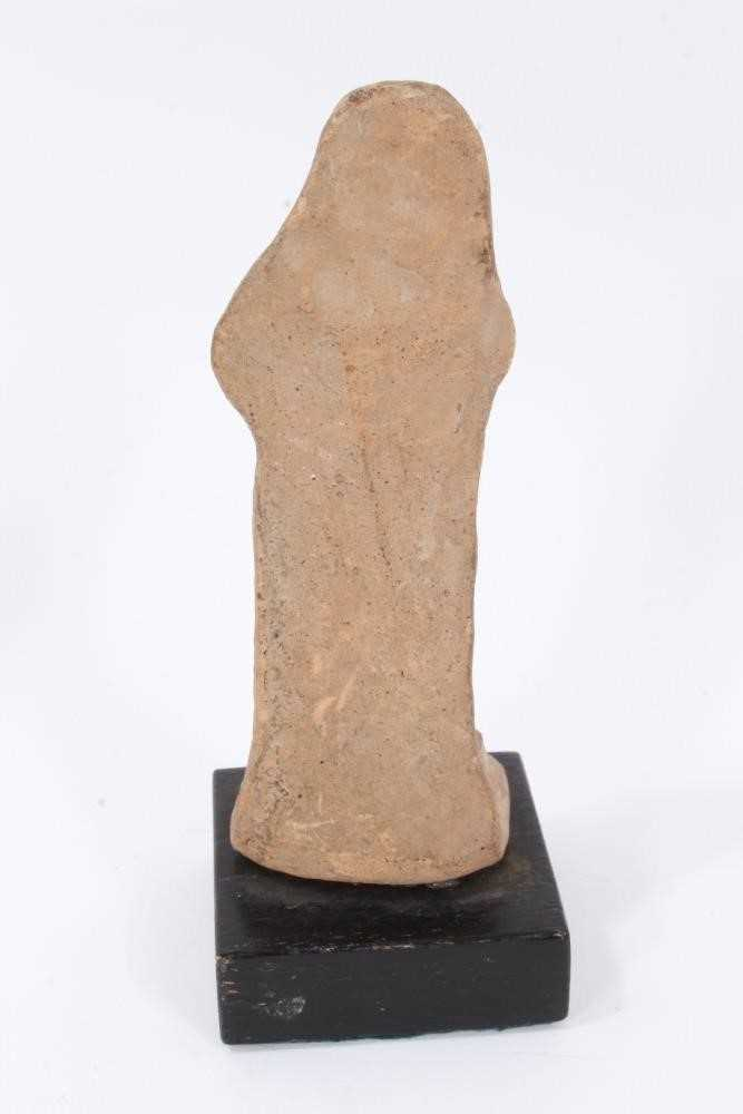 Two Tanagra terracotta figures together with a Tanagra head fragment - Image 5 of 7