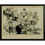 Jak, Raymond Allen Jackson (1927-1997) pen, ink and watercolour cartoon - 'Well Tell 'Em I Can't Use