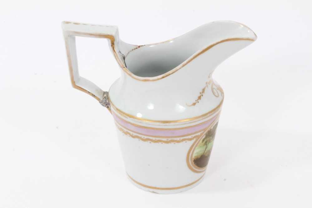 A very rare Wxxx Factory helmet shaped jug - ex Godden Reference Collection, and a Paris porcelain c - Image 7 of 10