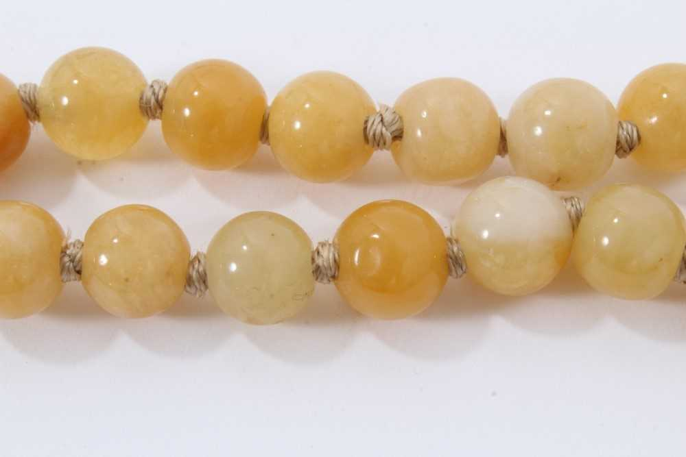 Jade bead necklace - Image 5 of 7