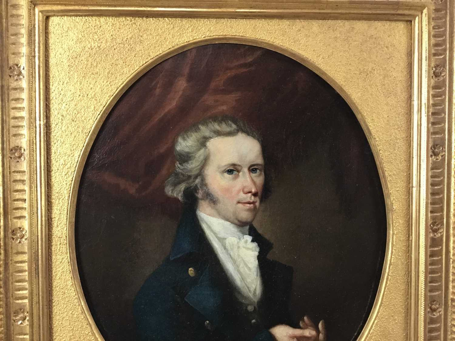 John Greham, late 18th century, oval oil on canvas - portrait of a gentleman, in gilt frame - Image 7 of 11