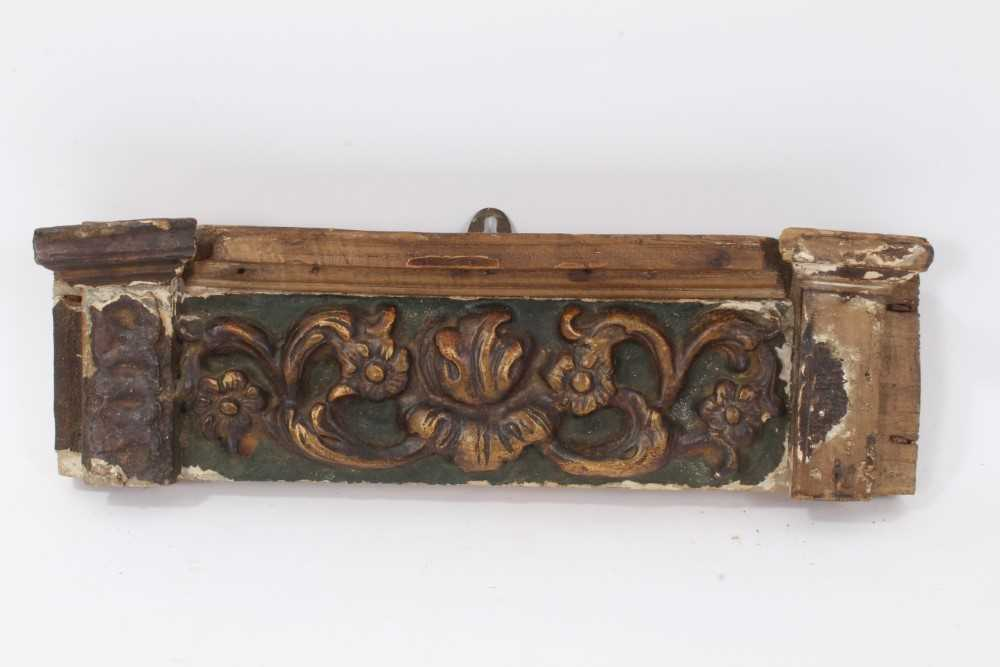 Collection of 17th century and later carved panels and furniture mounts - Image 8 of 9
