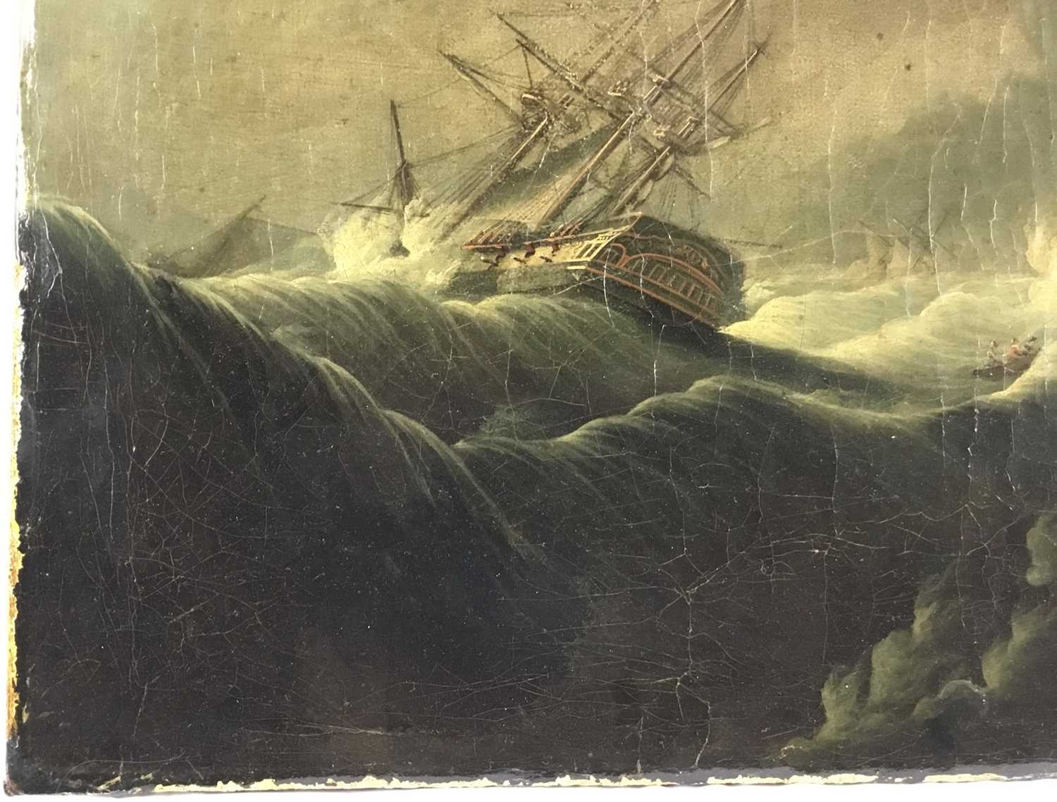 Attributed to Joseph Vernet (1714-1789) oil on canvas - shipping crashing against the rocks, 55cm x - Image 4 of 12