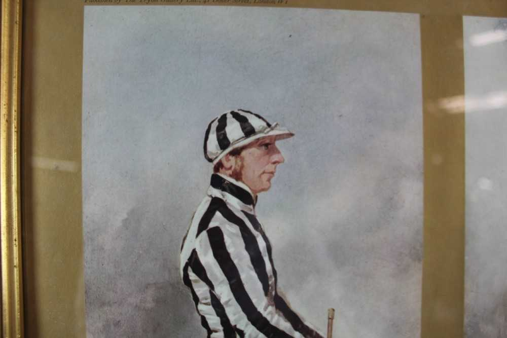 After Harry Hall, pair of coloured prints - Famous Jockeys, published by The Tryon Gallery, 57cm x 4 - Image 11 of 14