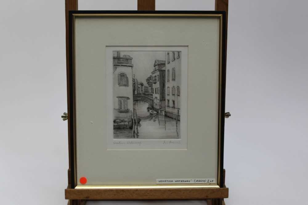 Group of contemporary signed etching etchings, prints and other works, mostly East Anglian artists t - Image 36 of 42