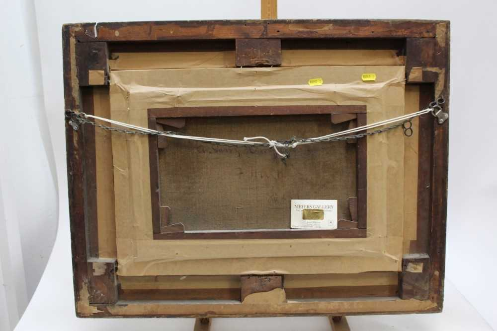 J Hughes - late 19th century oil on canvas in original gilt frame - Sunny Cornfield. 29cm x 44.5cm - Image 11 of 11