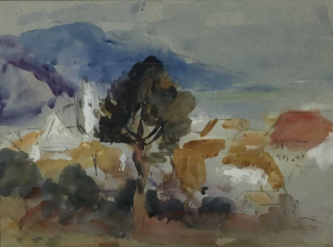 Robert G. D. Alexander (1875-1945) pencil and watercolour - view of Laigueglia, 14cm x 18.5cm, in gl - Image 2 of 8