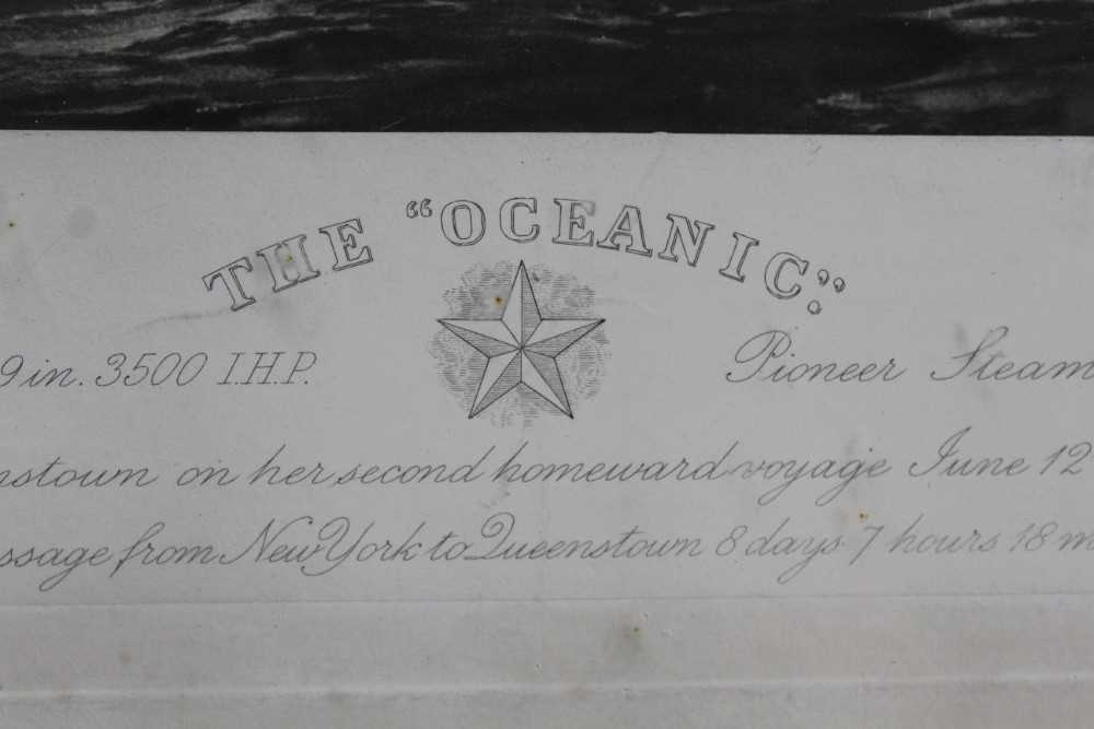 """William Lionel Wyllie (1851-1931) signed black and white engraving - White Star Line """"The Oceanic"""", - Image 4 of 15"""