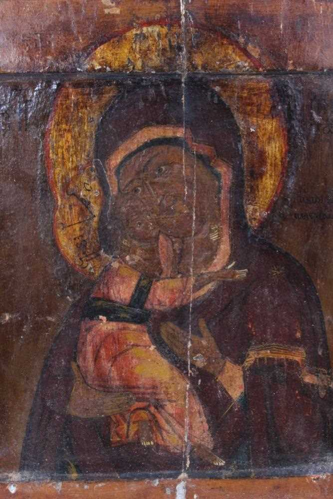 19th century Russian icon, with metal oklad. - Image 4 of 6