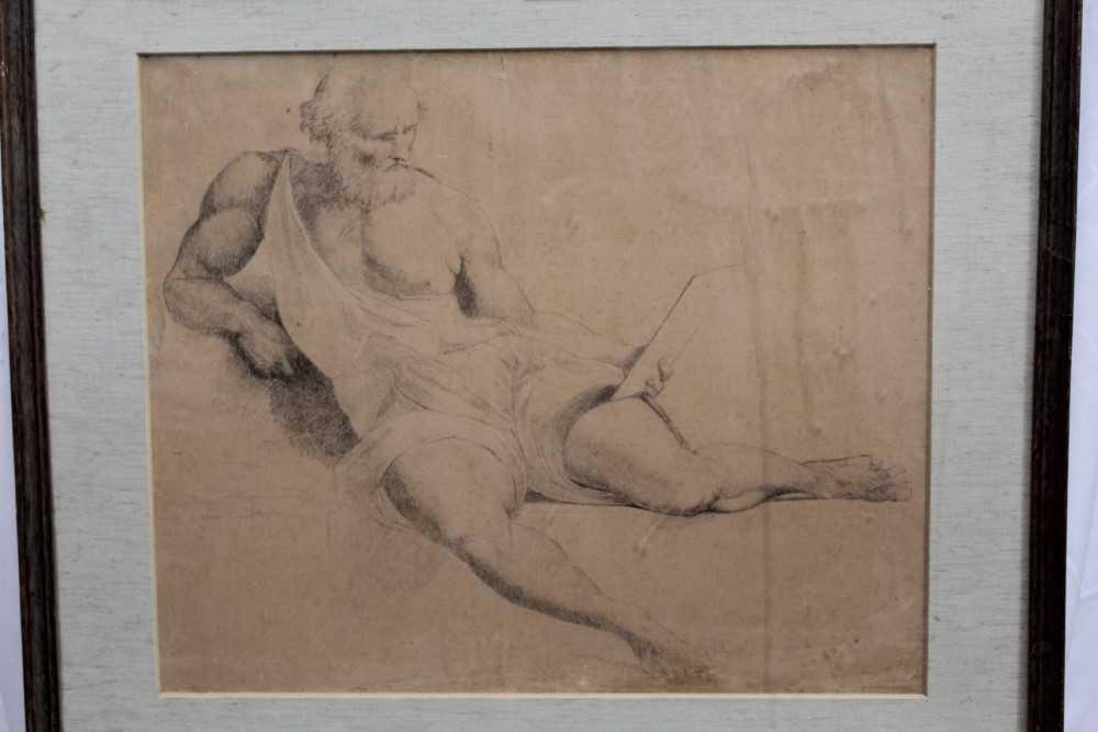 Manner of James Barry (1741-1806) pair of drawings - studies of the Sistine Chapel after Michelangel