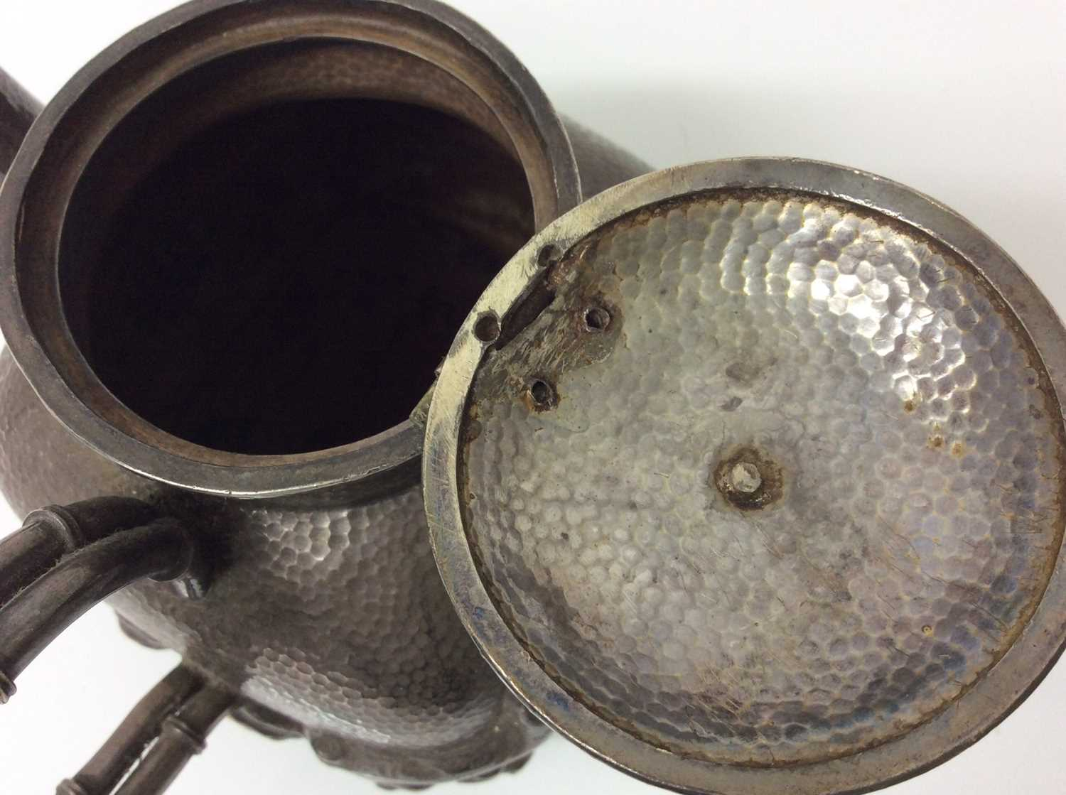 Chinese silver teapot and jug - Image 6 of 12