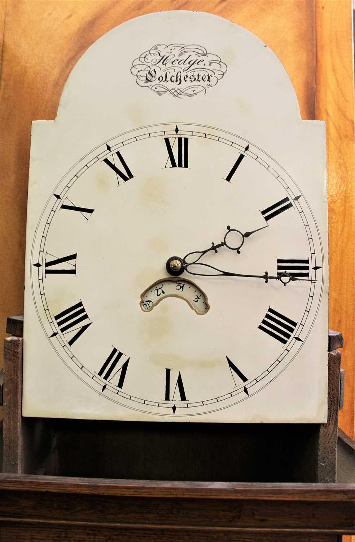 Hedge of Colchester, George III 30 hour oak longcase clock. - Image 8 of 8