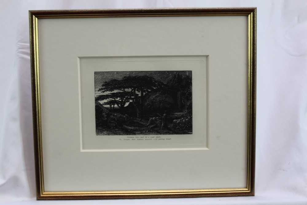 Samuel Palmer (1805-1881) pair of etchings - The Sepulchre and The Cypress Grove, in glazed gilt fra - Image 8 of 12