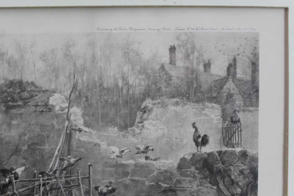 Thomas Blinks (1860-1912) three signed photogravures - Hunting Scenes, 40cm x 57cm, in glazed frames - Image 15 of 15