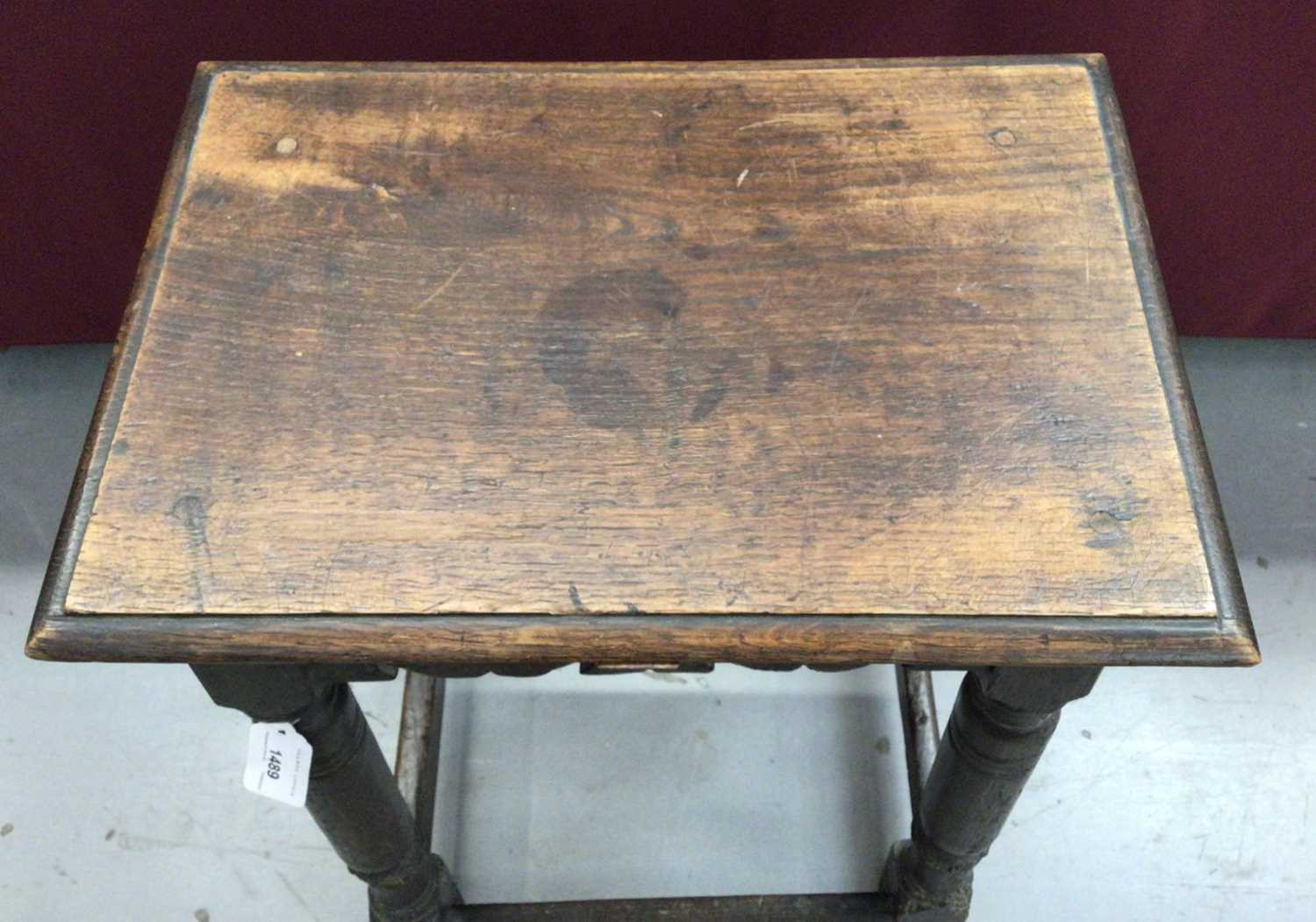 17th century and later oak joint stool - Image 4 of 5