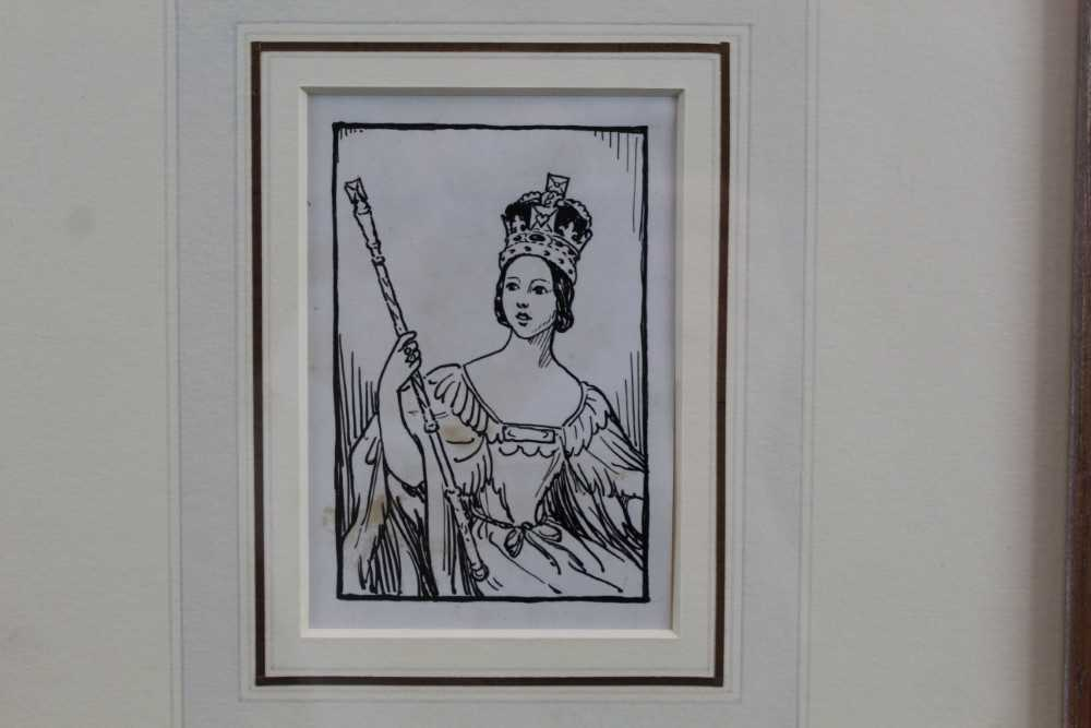 Cicely Mary Barker (1895-1930) pen and ink - 'Please to find a little Q in a Queen who quickly grew'