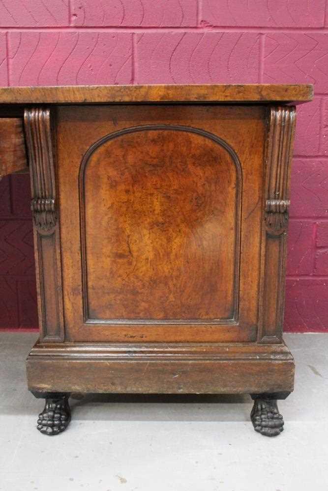 Very large late Regency pollard oak sideboard - Image 7 of 11
