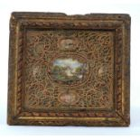 18th / 19th century Continental painted and rolled paper reliquary picture