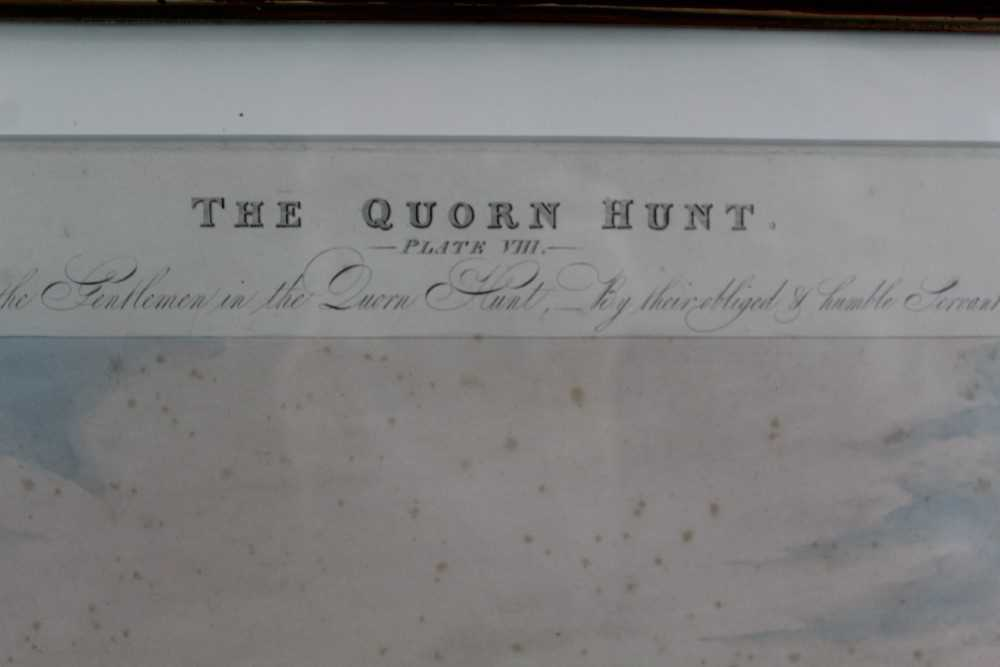 Henry Alken, five hand coloured engravings - The Quorn, in glazed frames - Image 17 of 19