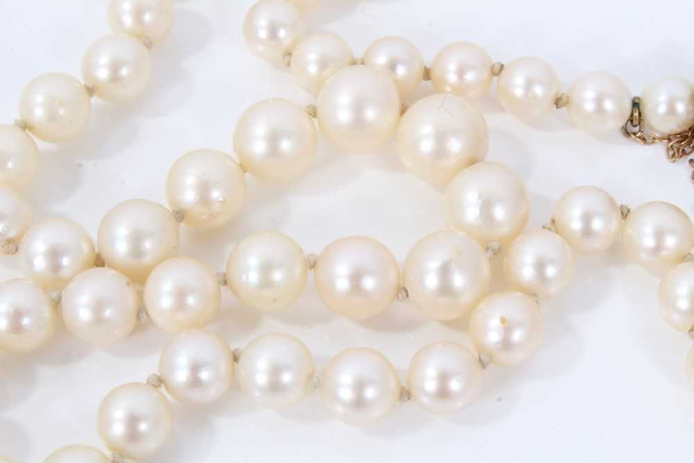 Cultured pearl necklace - Image 4 of 4