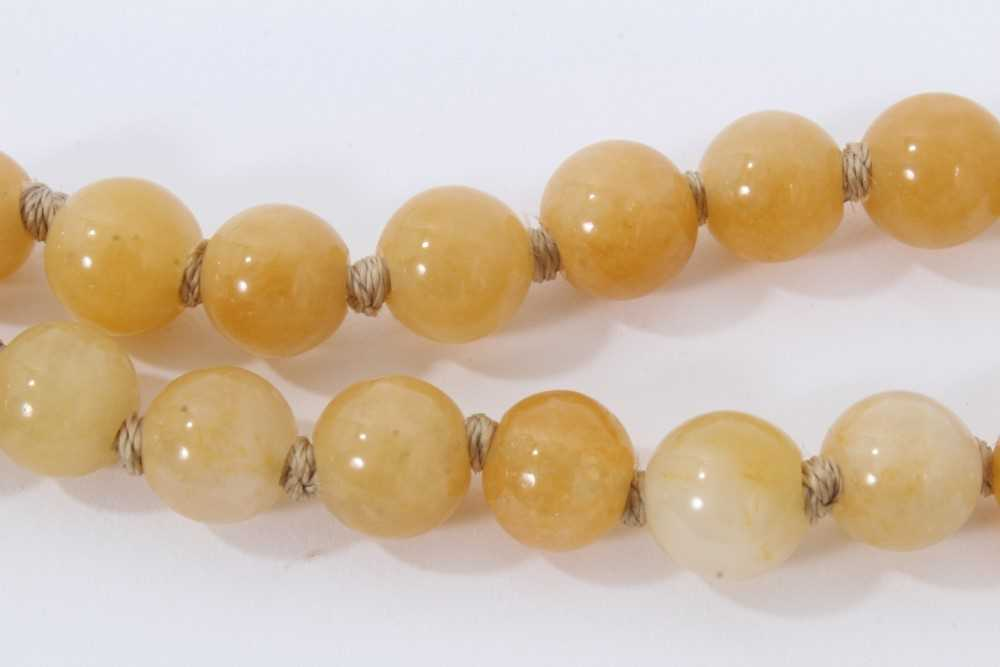Jade bead necklace - Image 3 of 7