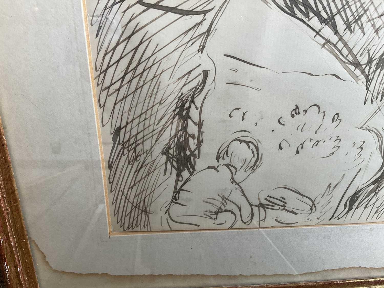 *Augustus John, pair of pen and ink drawings - Image 7 of 9