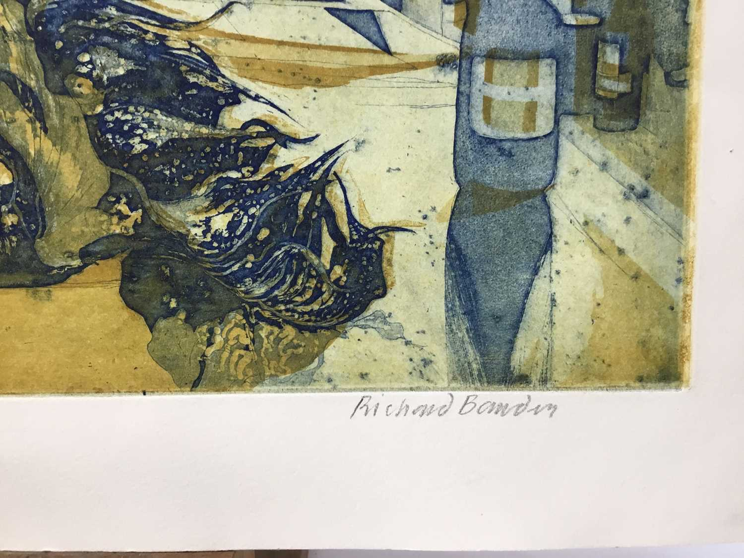 Richard Bawden (b. 1936) etching and aquatint in colours, Clutter, signed, artists proof, unframed. - Image 3 of 4