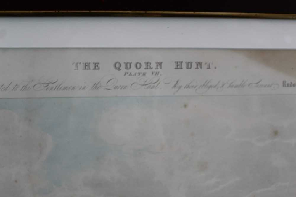 Henry Alken, five hand coloured engravings - The Quorn, in glazed frames - Image 13 of 19